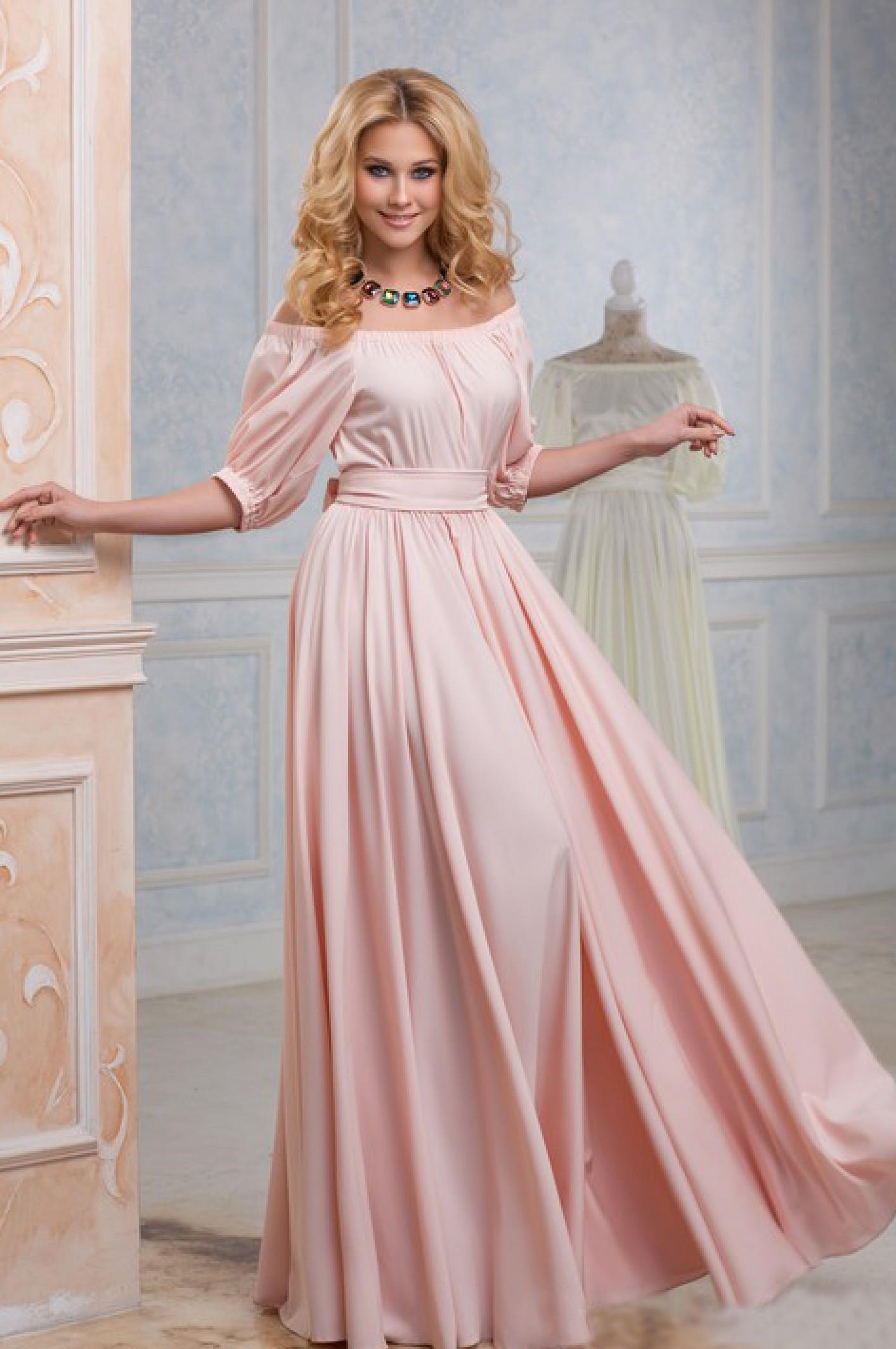 9c93a10cf12 Купить вечернее атласное платье в пол розового цвета. Радэлия  интернет-магазин женской одежды.