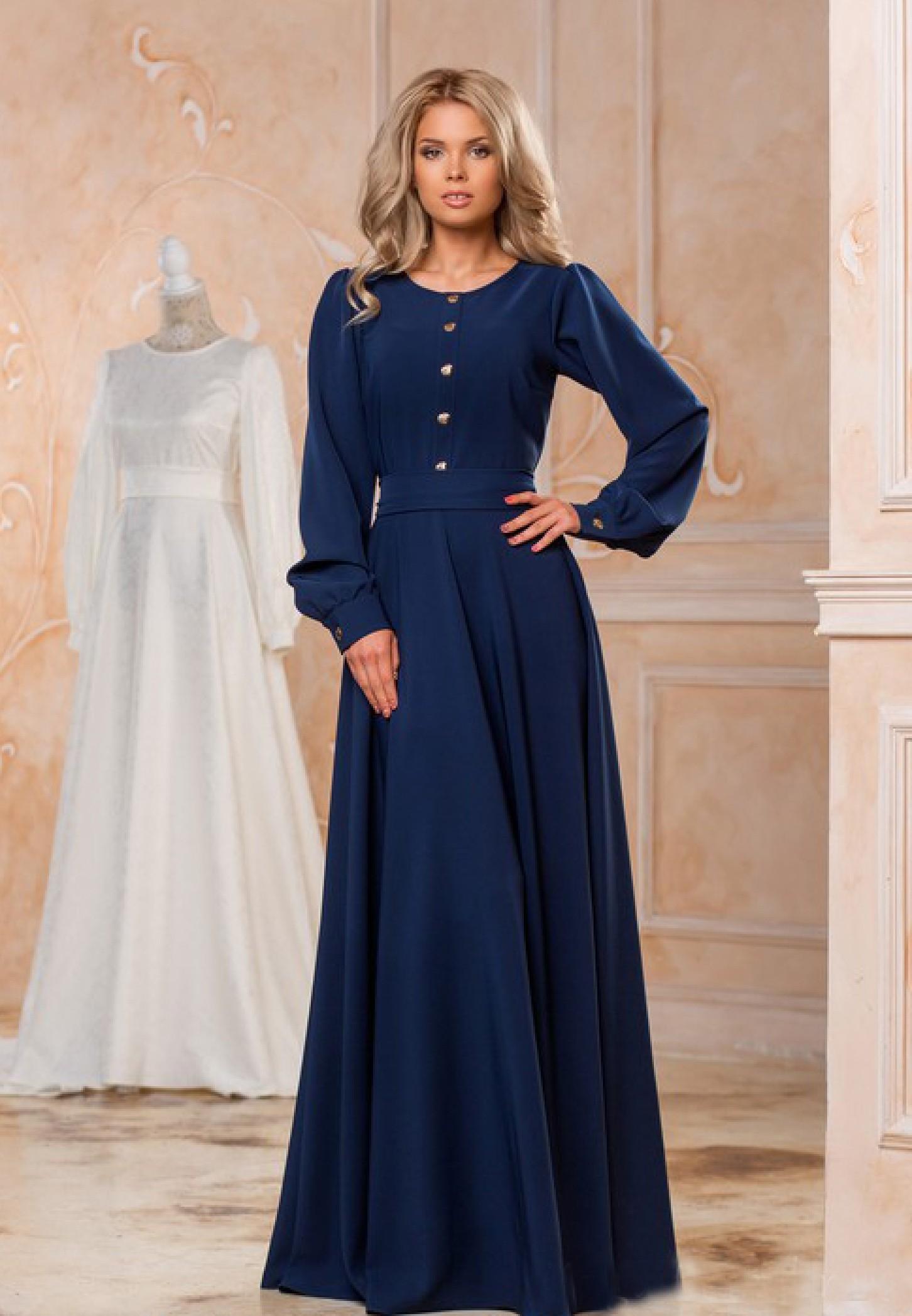 4a441b417d6 ... Зимнее платье макси из плотной костюмной ткани