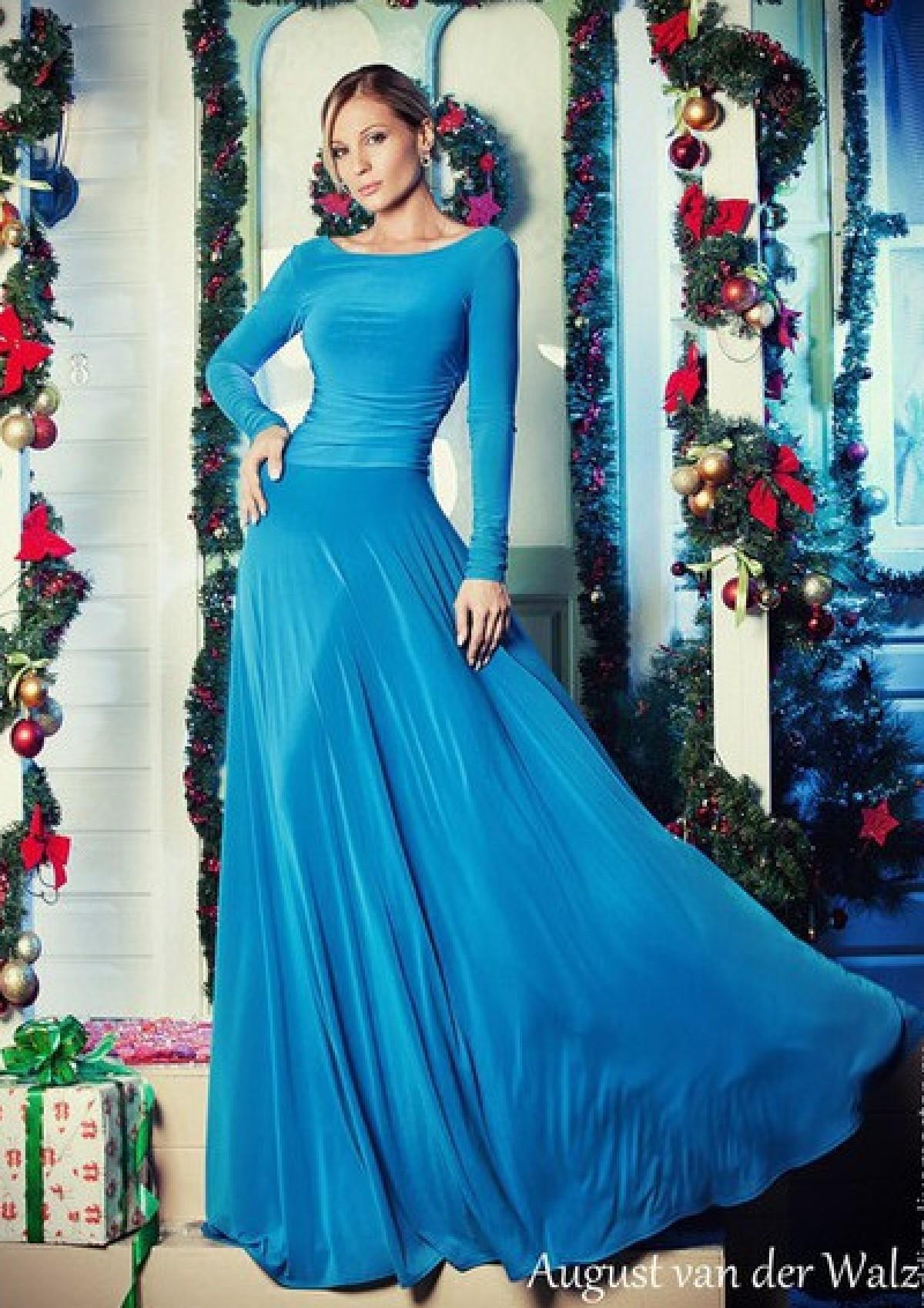 d6fc2d3b4e9 Голубое вечернее платье в пол для выпускного бала. Платья для выпускного  бала 2016. Интернет магазин выпускных платьев Радэлия