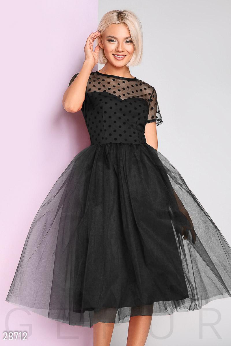 38ce480d85c Купить платье в горошек и юбкой из фатина. Интернет-магазин красивых  платьев с бесплатной доставкой по России.